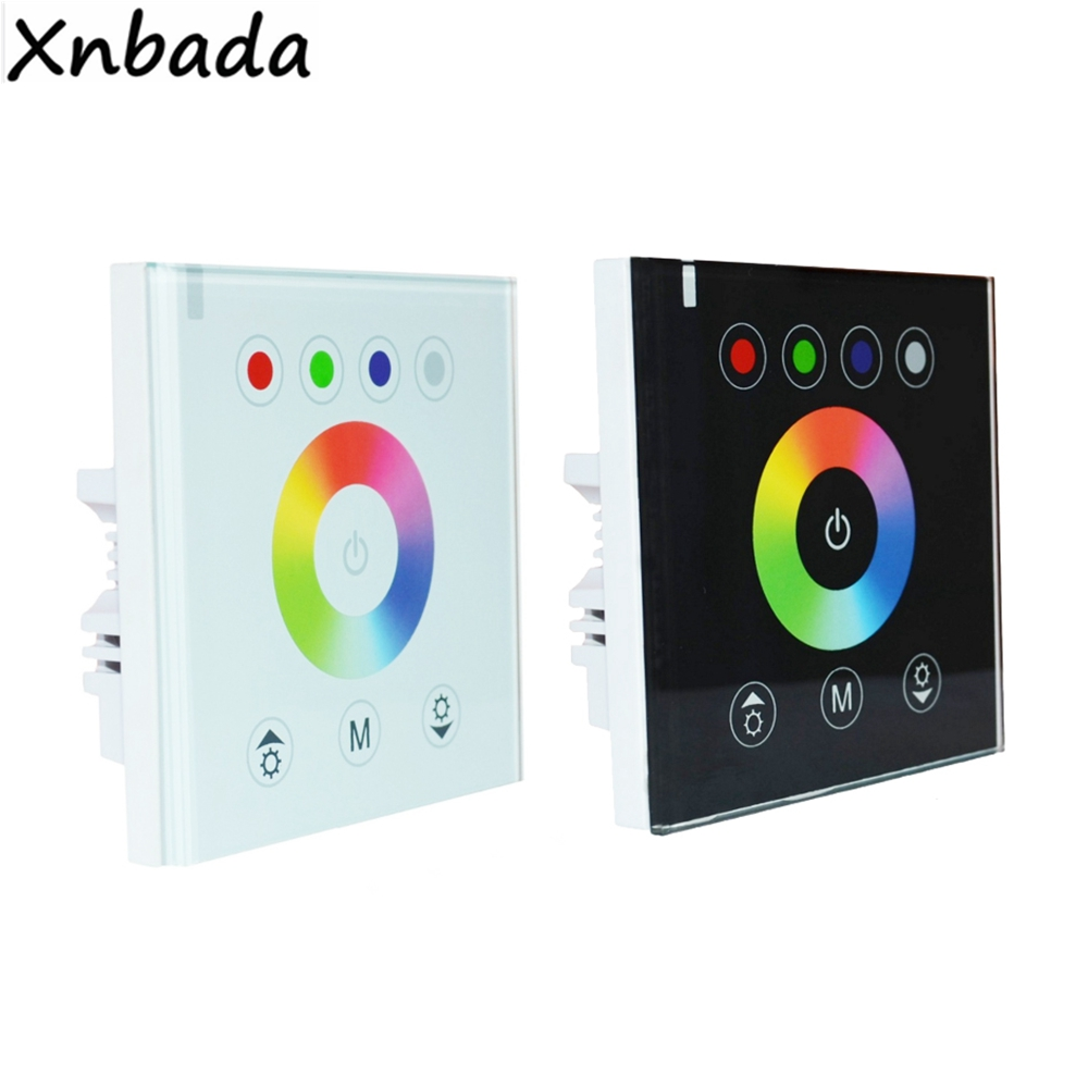 RGB Wall Mounted Touch Panel Led Controller Glass Panel Dimmer Switch Controller For 5050 Led Strip Light DC12V-24V