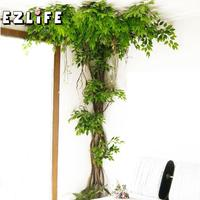 4~6M 1 Rattan Real Touch Fake Tree Branches Rattan Kudo Artificial Flower Wreath Vine For Home Hotel Wedding Diy Decoration