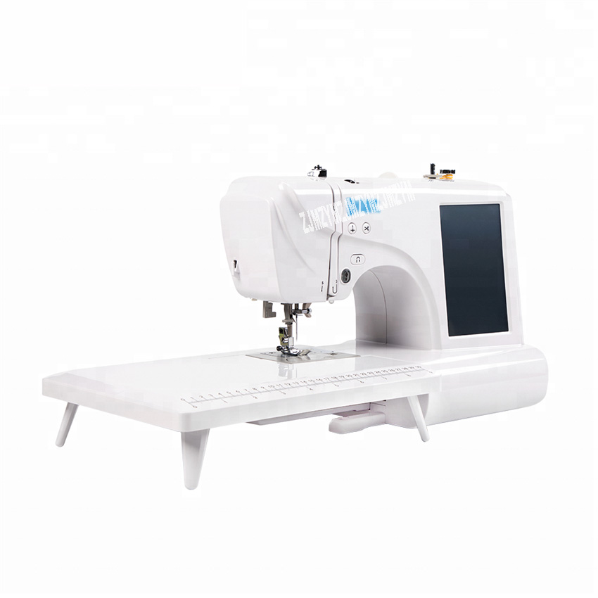 DT9090 Household Fabric Embroidery Machine Portable Computer Sewing Machine Multifunctional DIY Sewing Tools 7 inch LED Screen