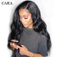 Бесклеевого парики предварительно сорвал Full Lace натуральные волосы парики с ребенком волос для Для женщин 250% черный бразильский Remy волна CARA