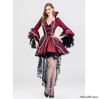 Adult Womens Sexy Halloween Party Gothic Vampire Witch Costumes Outfit Fancy Cosplay Dresses S 2XL