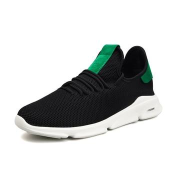0d97c7db 2019 Новая повседневная обувь Мужская дышащая осенне-летняя сетчатая обувь  кроссовки модные дышащие легкие мужские кроссовки