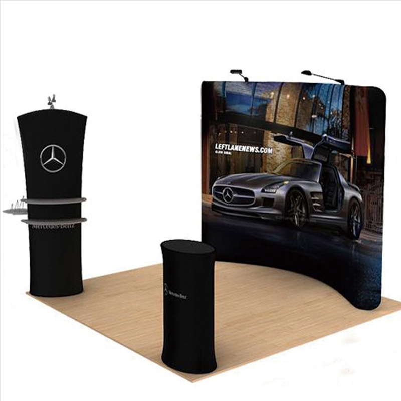 Exhibition Booth Accessories : Ft portable fabric trade show displays banner booth pop