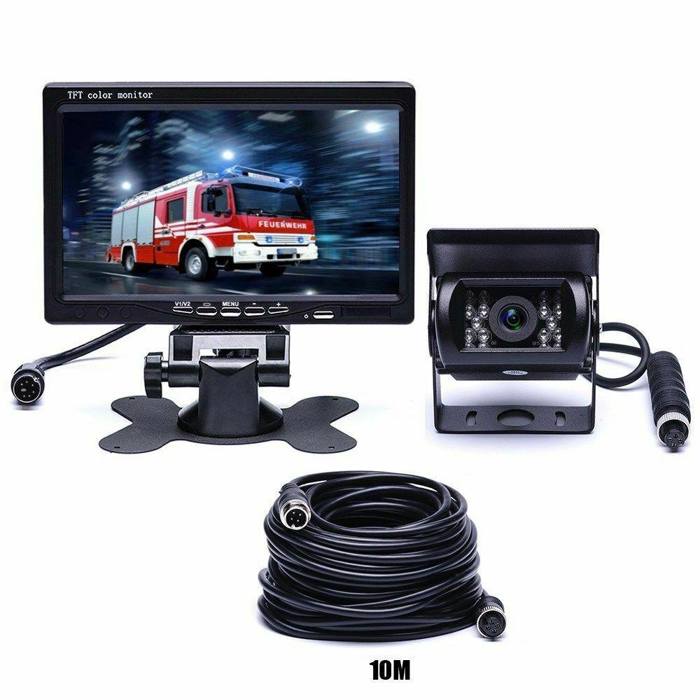 4PIN 7 Monitor HD 12/24V Car Van Truck Trailer Rear View Infrared Camera Car Monitors Display4PIN 7 Monitor HD 12/24V Car Van Truck Trailer Rear View Infrared Camera Car Monitors Display
