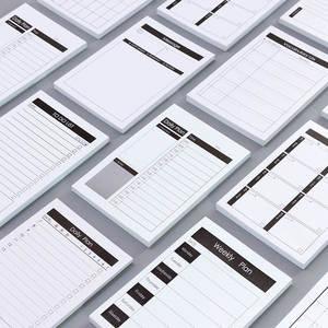 Kawaii Stationery Memo-Pad Office-Accessory Do-List School-Supplies Kraft-Paper Work-Plan