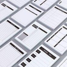 Plano de estudo e trabalho em papel de embalagem criativo, bloco de notas kawaii, artigos de papelaria, material escolar, para fazer lista, 1 peça