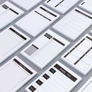 1pc Creative Study&Work Plan Kraft Paper Memo Pad Kawaii Stationery Office Accessory School Supplies To Do List