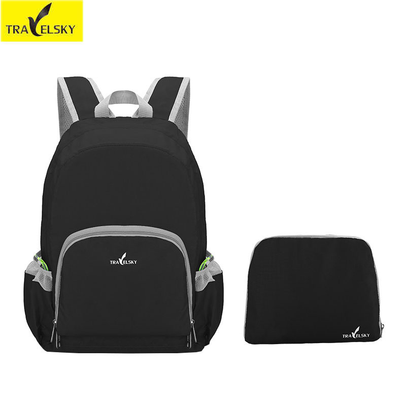 Men Portable folding bag travel backpack Travel mountaineering bags 20L waterproof computer laptop bag foldable travel backpack