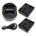 Batmax 2pcs DMW-BLG10 DMW BLG10 DMWBLG10 Battery + USB Dual Charger for Panasonic BLG10E BLG10GK  BLG10 DMC-GF6 DMC-GX7 GF6 GX7