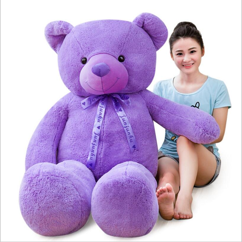 140CM /160 /180cm Lavender Giant Size Teddy Bear Stuffed Doll Plush Toys Teddy Bear Doll Plush Toy For Valentine's Day Present недорого