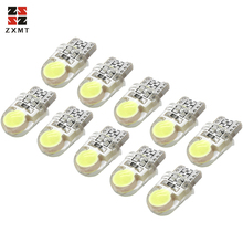 ZXMT 10Pcs Auto T10 Led 194 W5W LED 168 COB Cold White Silica Car Super Bright Turn Side License Plate Light Lamp Bulb DC 12V aotomonarch 194 t10 led w5w white car super bright 2 smd automobile turn side license plate light lamp bulb led light lamp be