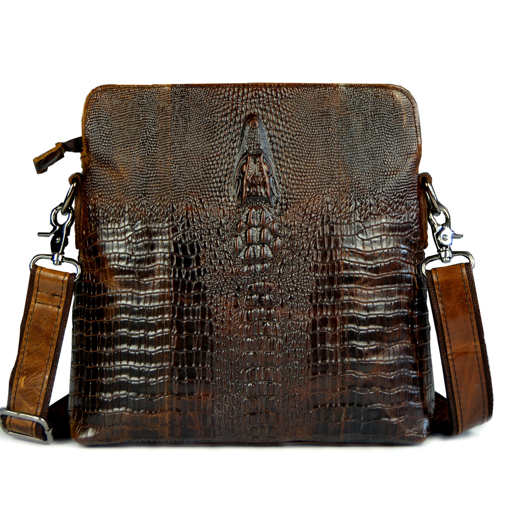 2015 HOT Crocodile pattern genuine leather small messenger bags for men crossbody shoulder bag male cowhide crocodilian handbags genuine leather bag male men bags small shoulder crossbody bags handbags casual messenger flap men leather bag crocodile pattern