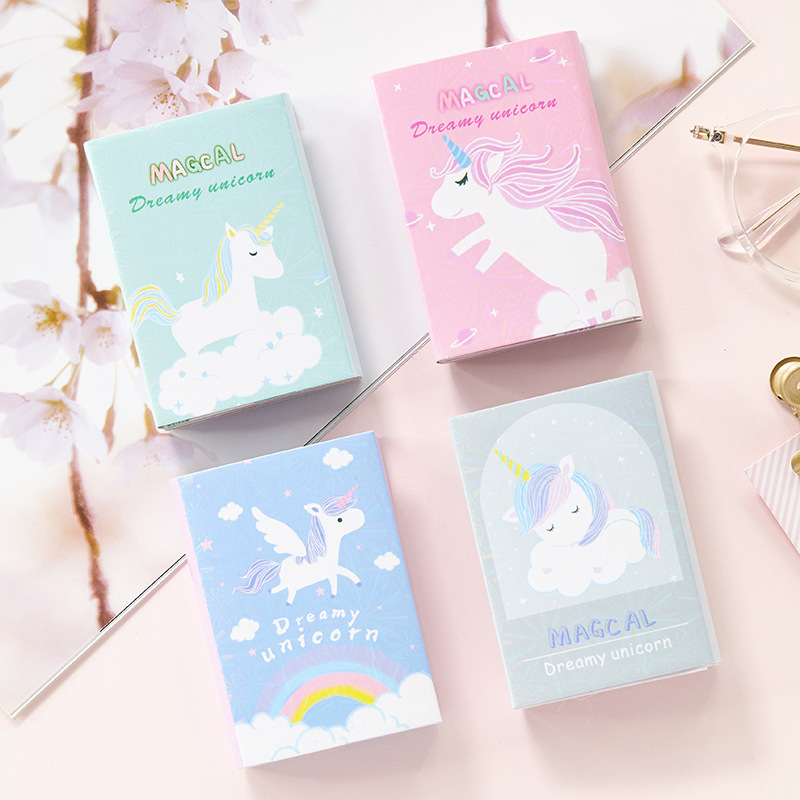 Unicorn 6 Folding Memo Pad Cute N Times Sticky Notes Notepad Bookmark Stationery Stickers Gift School Supplies
