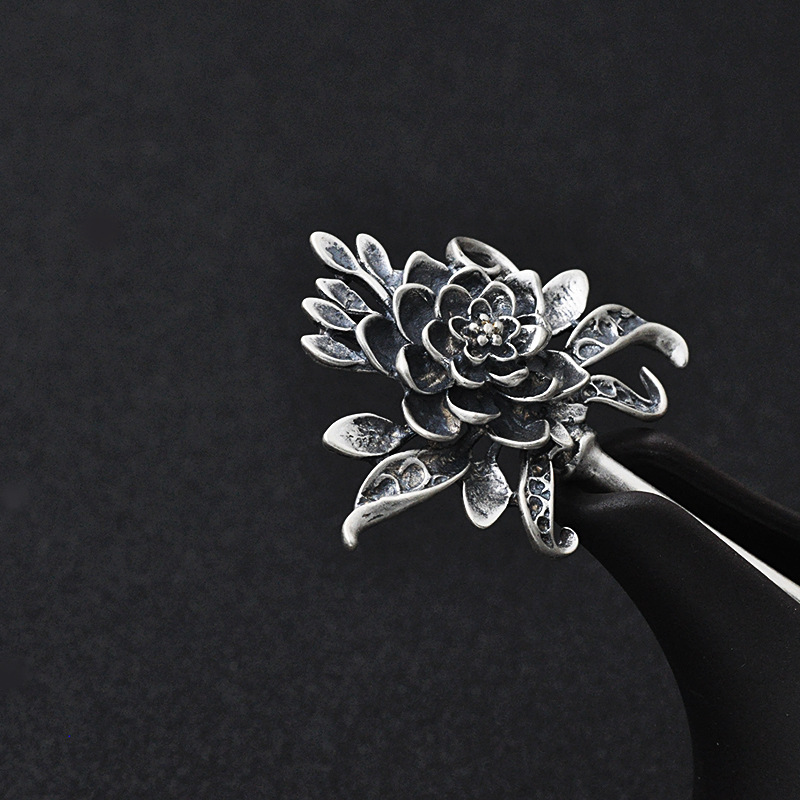 Vintage Hair Sticks 925 Sterling Silver Hairpins Antique Silver Hair Jewelry Hair Accessories For Women Mother's Gift