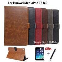 Luxury Case For Huawei MediaPad T3 8 0 KOB L09 KOB W09 Smart Cover Funda Tablet