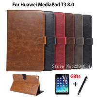 Luxury Case For Huawei MediaPad T3 8 0 KOB L09 KOB W09 Smart Cover Funda Tablet