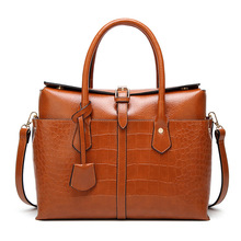 цены Women Leather Bags Famous Brands Handbag Casual Female Bag Trunk Tote Ladies Shoulder Bag Open Pocket Large Messenger Bag