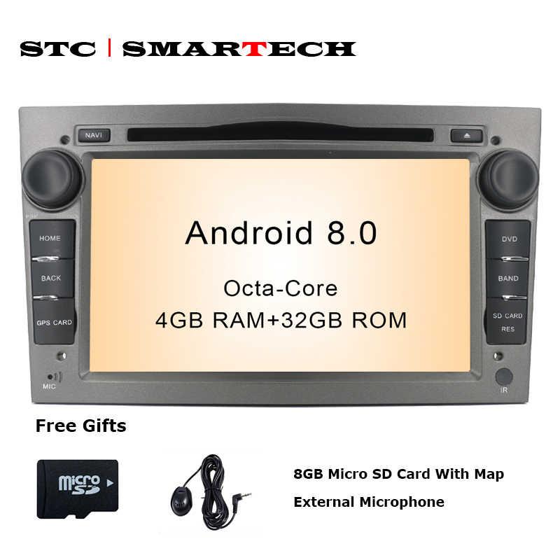 本リポジトリ 2 ディンアンドロイド 8.0 カーラジオ DVD GPS ナビゲーションのためのオペル記章 ZAFIRA Astra H グラム J アンタラベクトラ vauxhall CAN バスで