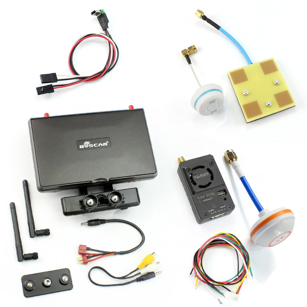 Boscam Galaxy D2 7in FPV Monitor Display Wireless AV Transmitter System 1000wm 600wm 300wm for DIY FPV Racer Drone Quadcopter