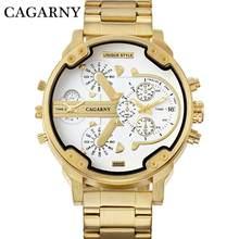 CAGARNY брендовые роскошные часы для мужчин золото Сталь Браслет ремешок повседневные хорошее качество мужской наручные Модные