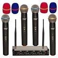 LOMEHO LO U9040 4 Weg UHF 4 Handheld Kirche Karaoke Dj Party Treffen Drahtlose Mikrofon-in Mikrofone aus Verbraucherelektronik bei