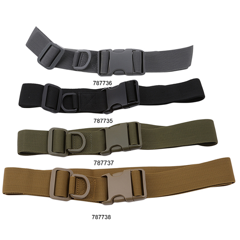 Canvas Tactical Sport Belt With Plastic Buckle Military Adjustable Outdoor Fan Waistband Tactical Belt Waist Back Support Belt