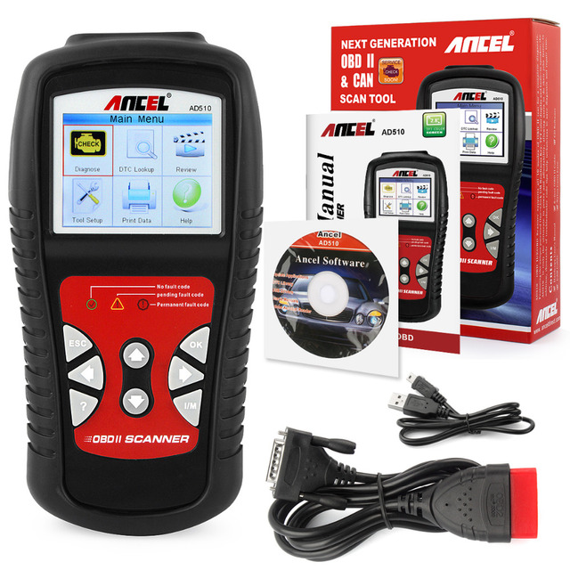 code readers scan tools ancel ad510 obd-ii scan tool car automotive scanner Better than ad310 al519 auto diagnostic scanner obd2