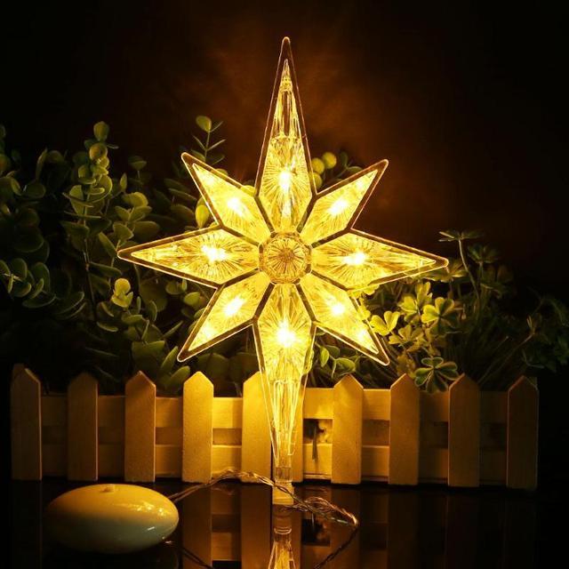 Polaris/Tree/Bell/Star LED Window Sucker Lamp Christmas Holiday Birthday Festival Decoration Light By 3 x AAA Battery Warm White