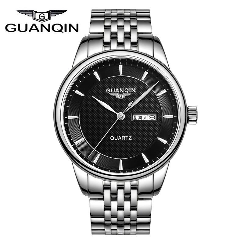 2016 Relogio Masculino New Fashion Casual Military GUANQIN Quartz Watch Men luxury Waterproof Analog Date Day