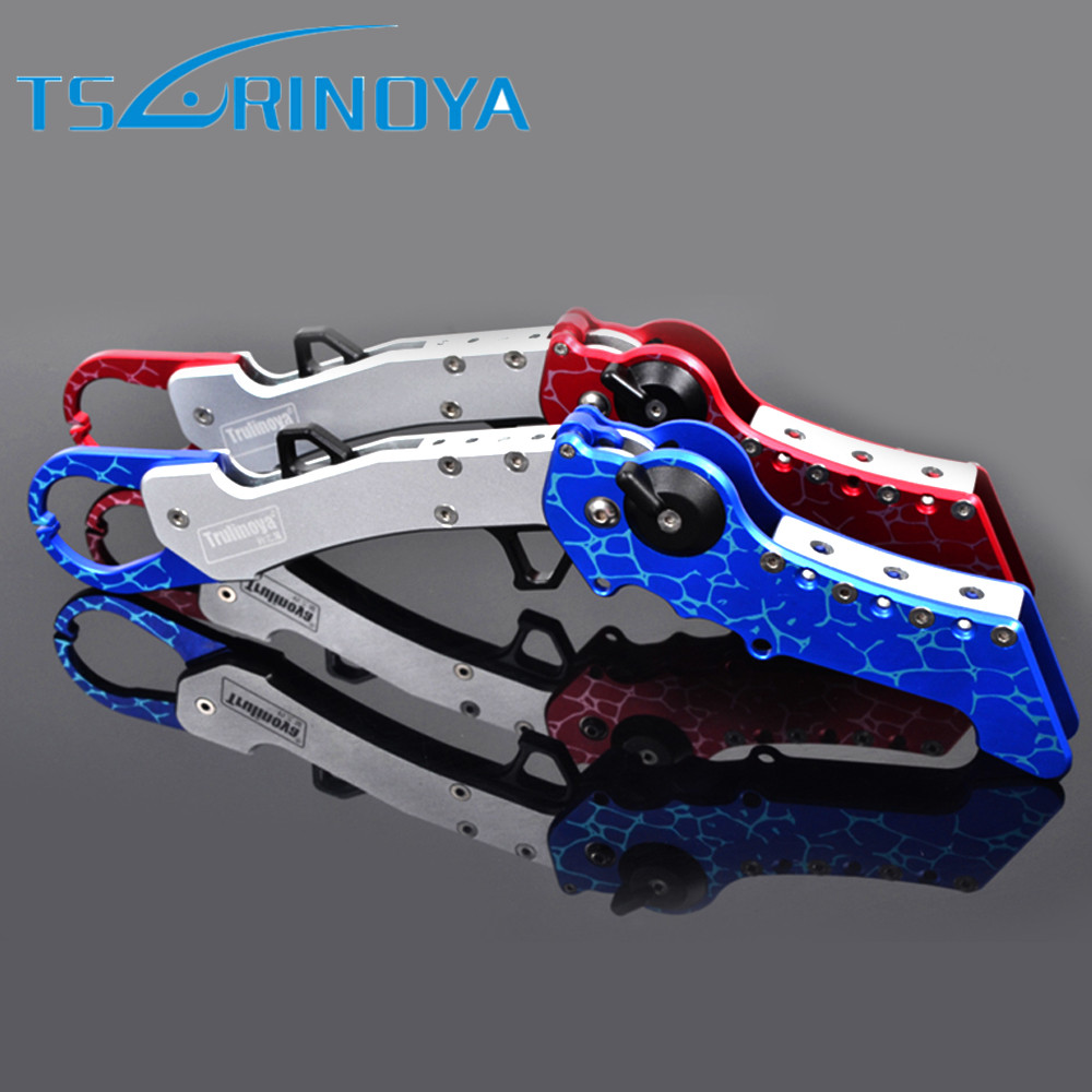 Tsurinoya Fish Grip 288mm/190g Folding Fishing Plier Fish Controler Pincers Aluminum Alloy Fishing Tackle Tool aluminum folding fish lip grip 60kg controller