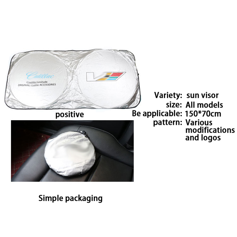Image 2 - for Cadillac Car Windshield Cover Automobile Sunshade Shield for Windshield Visor Cover Summer Front Window Windscreen Cover-in Windshield Sunshades from Automobiles & Motorcycles