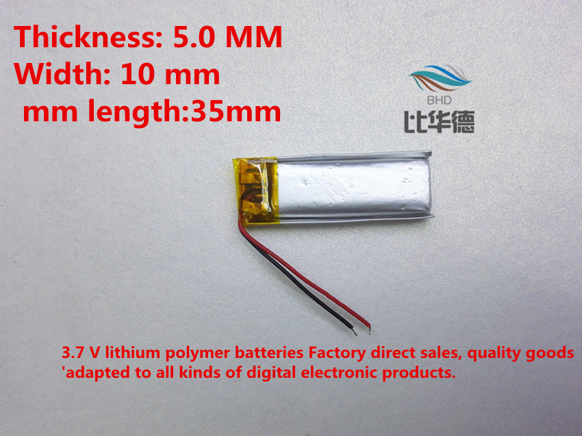 (free shipping)Polymer lithium battery 3.7 V, 501035 051035 can be customized wholesale CE FCC ROHS MSDS quality certification free shipping polymer lithium battery 651230 3 7v 200mah can be customized wholesale ce fcc rohs msds quality certification