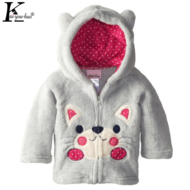 2017 Baby Girls Jackets Children Clothing Coat Cartoon Autumn Boys Coats Animal Long Sleeve Jacket Girls