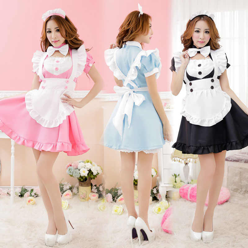 French Anime Beer Adult Naughty Halloween Sissy Maid Dress Cosplay