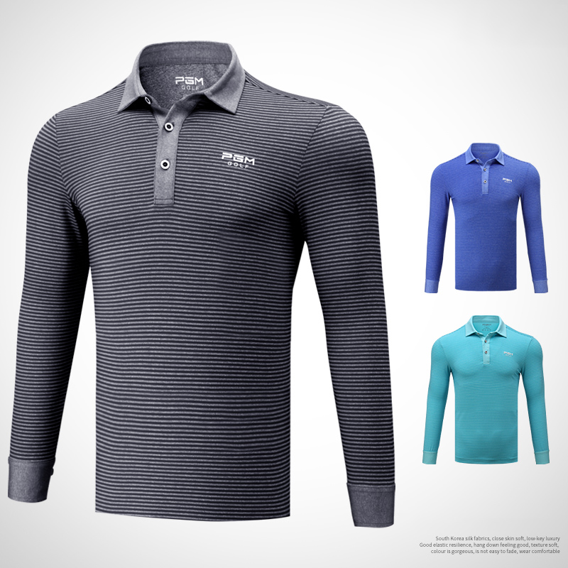 2018 Golf Clothing Men Shirt Long Sleeve T Shirt Autumn Winter Jersey Sport Striped Clothes цена