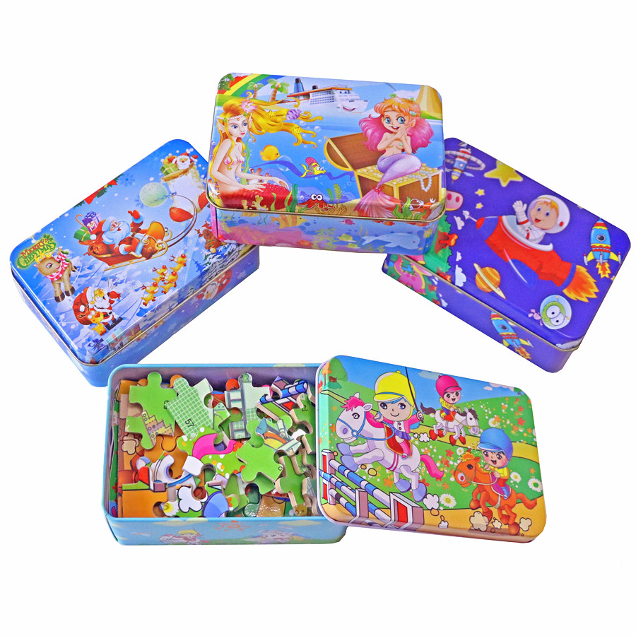 Registered Air Mail Iron Box Cartoon Wooden Puzzles for Children,Kids Toddler Early Educational Jigsaw Toys