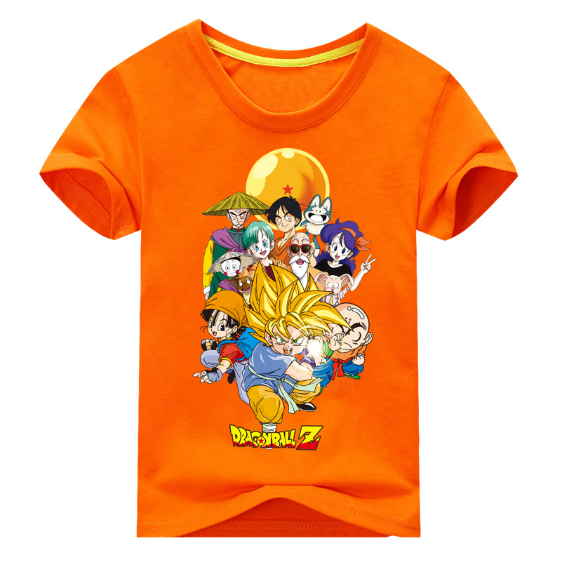 2018 Children New Years Summer Short Sleeve Dragon Ball Z T-shirt For Boy Tshirt Girls Clothes Kids 3D Goku Print Tee Tops DX017 ...
