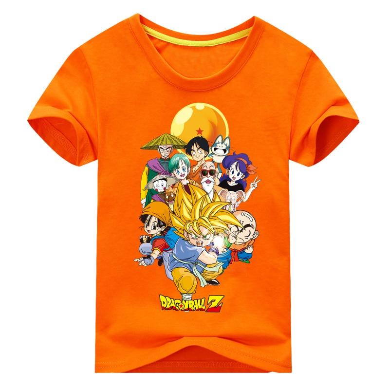 2018 Kinderen Nieuwe Jaar Zomer Korte Mouw Dragon Ball Z T-shirt Voor Jongen T-shirt Meisjes Kleding Kids 3d Goku Print Tee Tops Dx017