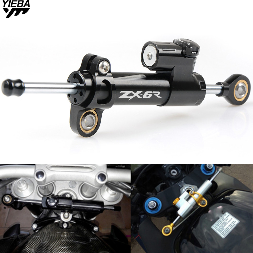 Universal Motorcycle Accessories Damper Steering Stabilize Safety Control For KAWASAKI ZX-6R ZX6R ZX-7R ZX7R ZX6R/ZX636R/ZX6RR fairing bolts full screw kit for kawasaki ninja zx 7r 96 03 zx 7 r zx 7r zx7r 96 1999 2000 2001 2002 2003 5f19 nuts bolt screws