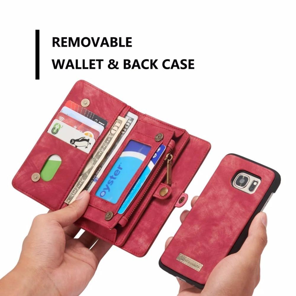 bilder für Für Samsung galaxy s7 s7 rand s8 s8 plus multifunktionale halter Brieftasche Fall Vintage Pu-leder Zipper Phone Cases Zurück abdeckung