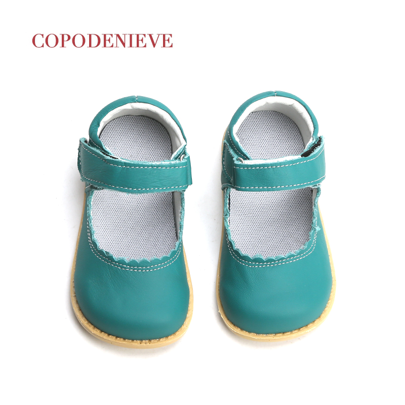 COPODENIEVE 2018 Baby Toddler Girls Vintage Flats Little Kids Genuine Leather Mary Jane Children Pink White Black Dress Shoes