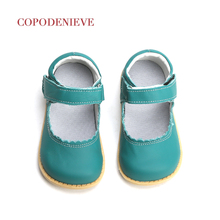 COPODENIEVE 2018 Baby Toddler Girls Vintage Flats Little Kids Genuine Leather Ma