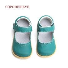 Copodenive chaussures en cuir véritable pour bébés filles, chaussures plates, en rose, blanc, noir, 2018