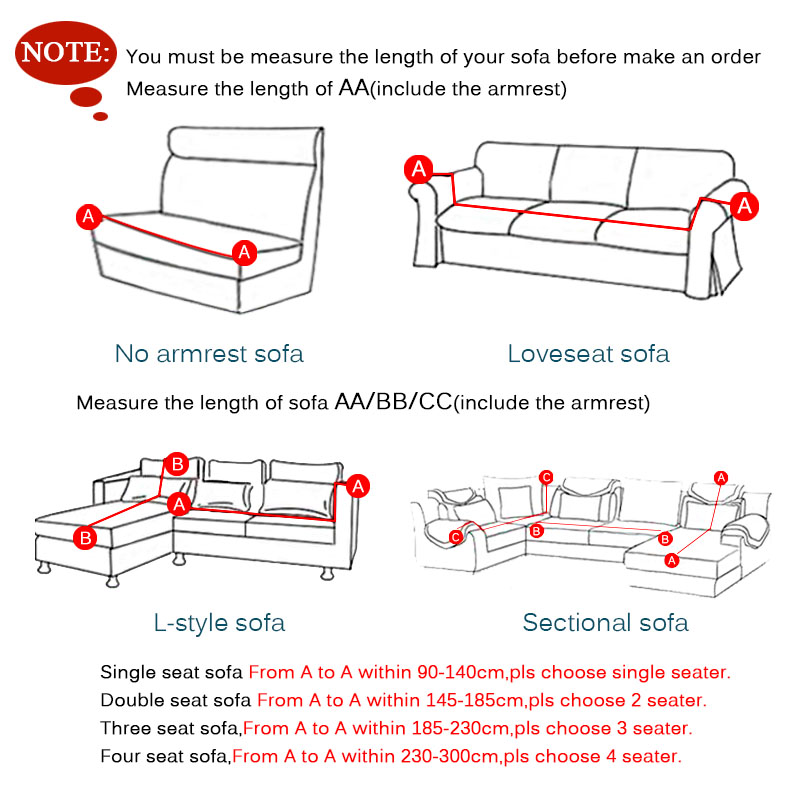 Length Of 2 Seater Sofa Leather Chesterfield At Sam S Club Flexible Stretch Slipcover Non Slip Solid Chair Love Seat Cover Seats Elastic Case Anti Dust Protection In From Home