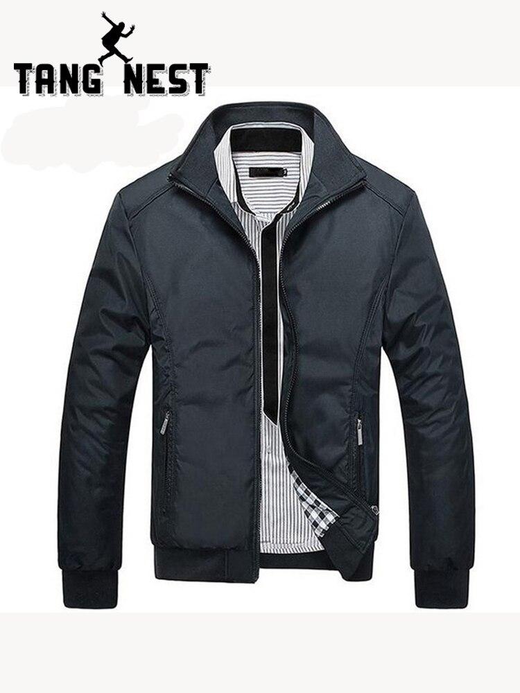 TANGNEST chaquetas de los hombres 2019 hombres nueva chaqueta Casual de alta calidad primavera Regular Slim chaqueta para hombre venta al por mayor MWJ682