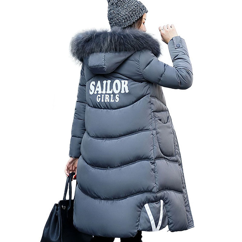Long Parkas Women 2017 Brand Clothing Women Quilted Jacket Fur Collar Hooded Down Cotton Padded Coat Winter Warm Jackets Parka winter collection parkas 2017 new warm jackets women long quilted coat parka fur collar hooded thick cotton coats abrigos mujer