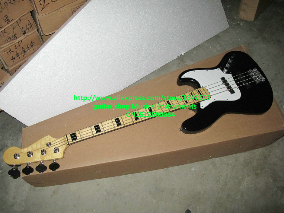 buy black bass guitar newest 4 strings high quality electric bass free shipping. Black Bedroom Furniture Sets. Home Design Ideas