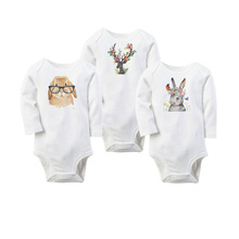 Baby Girl Bodysuit Newborn Baby Infant Boy Girls Long Sleeve Deer Christmas Bodysuit Jumpsuit Playsuit Outfits Clothes