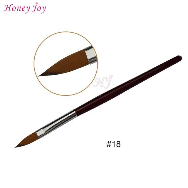 1PC Kolinsky Sable Acrylic Nail Art Brush No. 2/4/6/8/10/12/14/16/18 UV Gel Carving Pen Brush Liquid Powder DIY  Nail Drawing 4