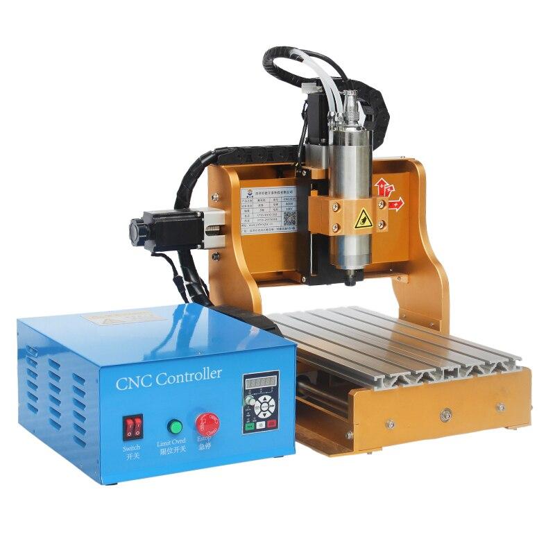 Mini CNC routeur en bois 3020 1500 W 3 axes bricolage sculpture sur bois fraisage travail Atc CNC routeur Machine pour Pvc Pcb